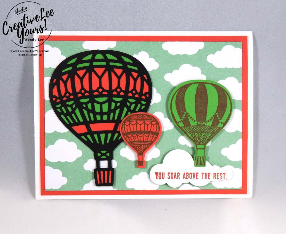 Soar Above The Rest by Christi Smith, Stampin Up, #creativeleeyours, creatively yours, Lift me up stamp set, Up & Away thinlits, diemonds tam swap, birthday card