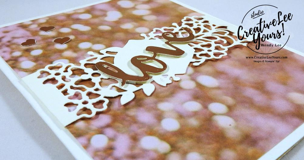So Detailed Love by Nancy Phillips, Stampin Up, #creativeleeyours, creatively yours, so detailed thinlits, falling in love dsp, sunshine wishes thinlis, love card, hand stamped valentine