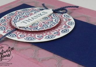 Make a Medallion Thanks by Wendy Lee, Stampin Up,#crewtiveleeyours, creatively yours, #SAB2017, make a medallion stamp set