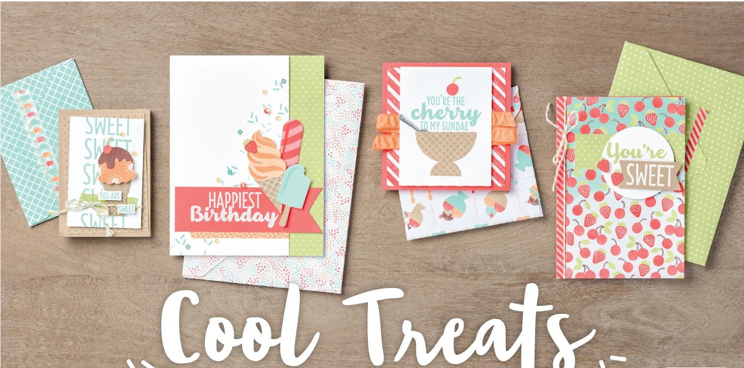 Cool Treats class with Wendy Lee, Stampin Up, Cool Treats stamp set, frozen treats thinlits, #creativeleeyours, creatively yours