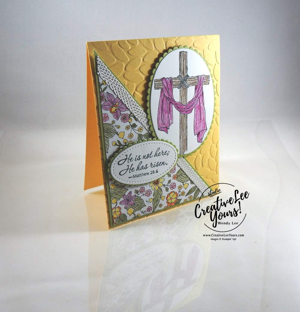 Easter Message by Zoe Williams, Stampin Up, #creativeleeyors,creatively yours, easter card, watercoloring, diemonds team swap