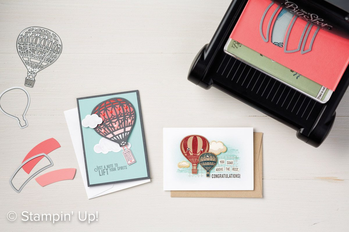 Lift Me Up and Away, Stampin Up, video, #creativeleeyours, creatively yours, up & away thinlits, lift me up stamp set