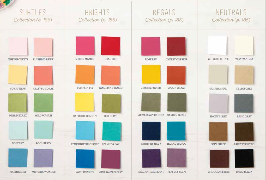 2017 2018 New Catalog Color Charts Are Here Creativelee Yours