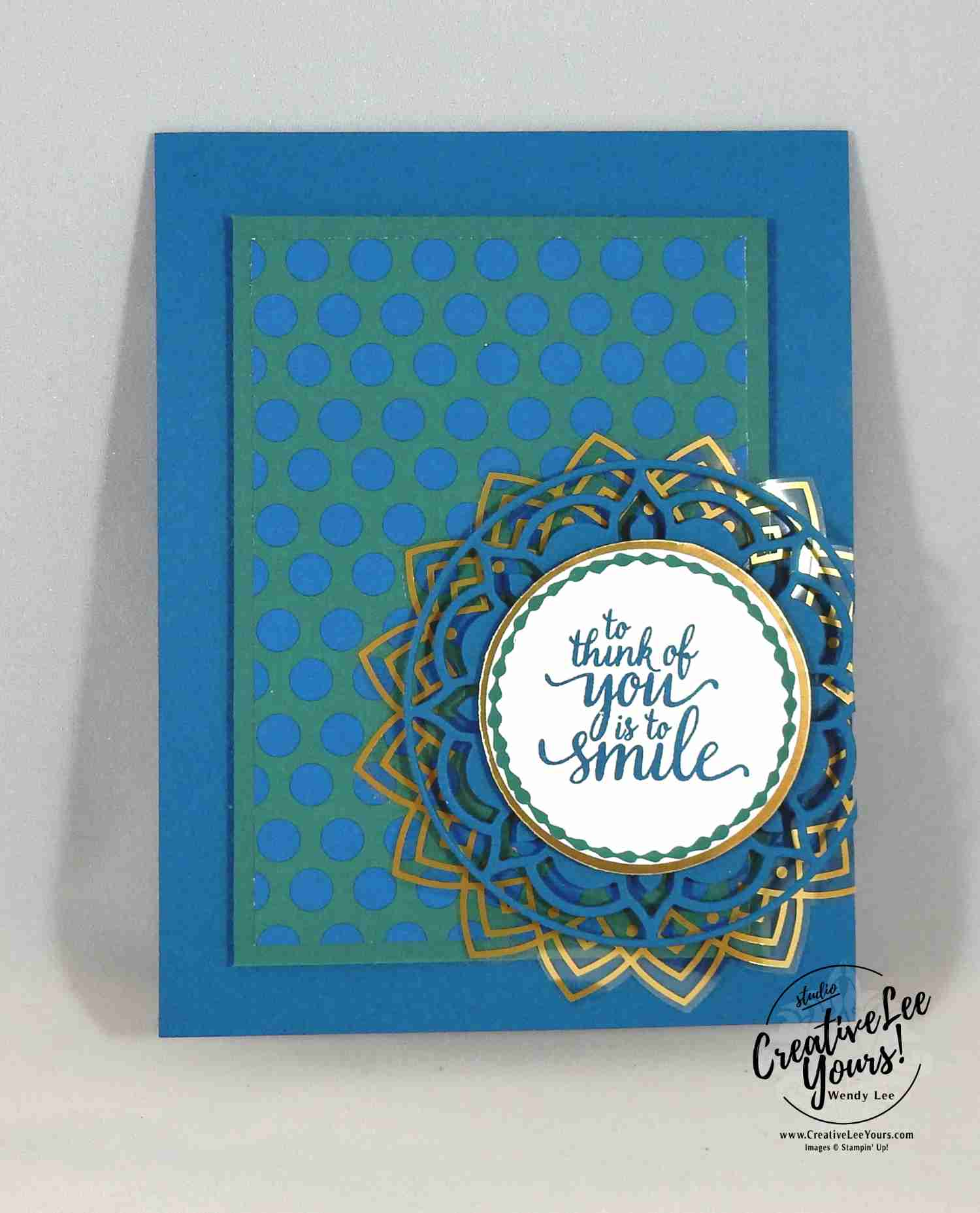Denim and Gold Medallion ,Eastern Medallion, Eastern Beauty stamp set, eastern medallion Thinlits, eastern palace bundle, stampin up, #creativeleeyours, creatively yours, handmade card