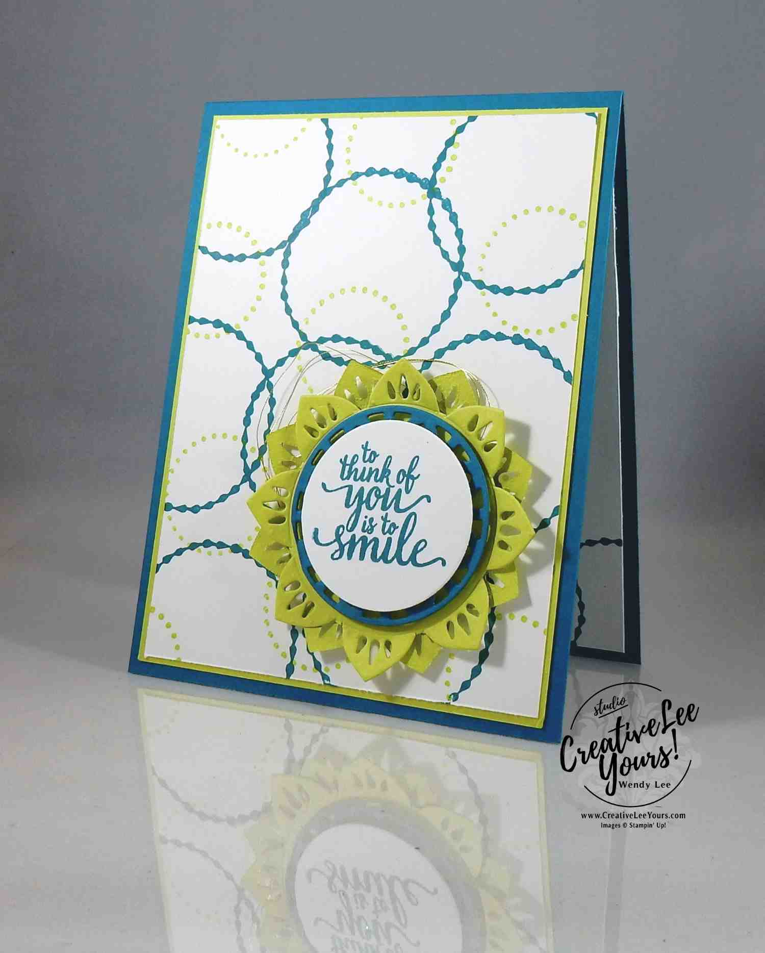 Indigo Meets Lemon Lime Twist by Wendy Lee, Stampin Up, stamping, hand made cards, eastern beauty, eastern medallion thinlits, rubber stamps, thinking of you