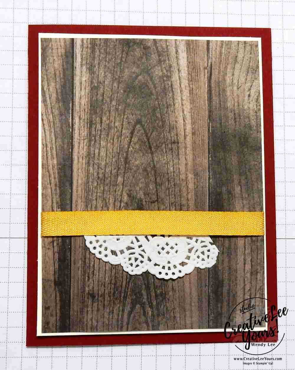 Simple Rooser by wendy lee, stampin up, #creativeleeyours, creatively yours, handmade card, rubber stamps, stamping, new catalog open house, wood textures designer paper, wood words stamp set