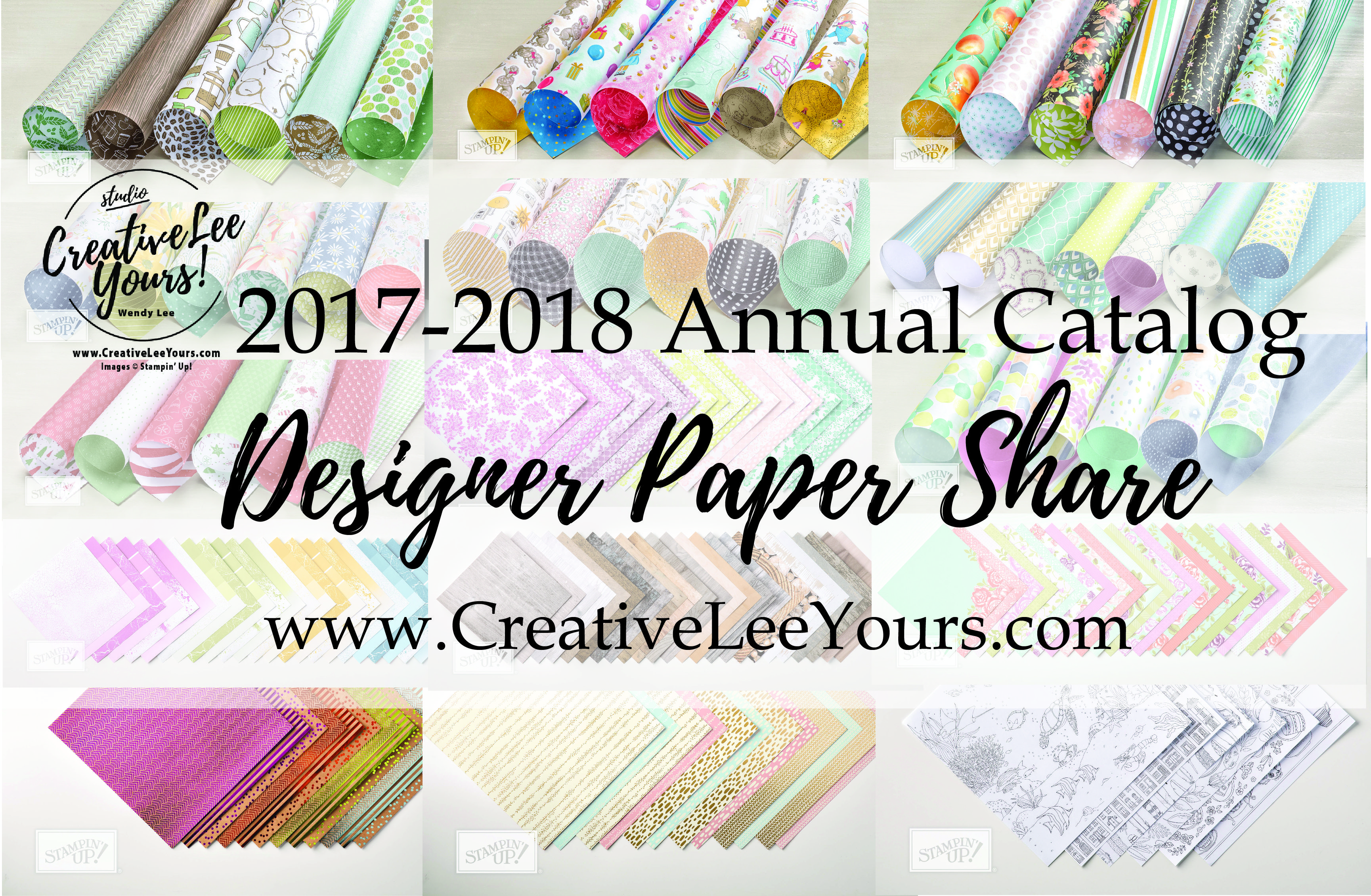 2017 2018 annualcatalog designer paper share with Wendy Lee, stampin up, papercrafting, #creativeleeyours,creativelyyours