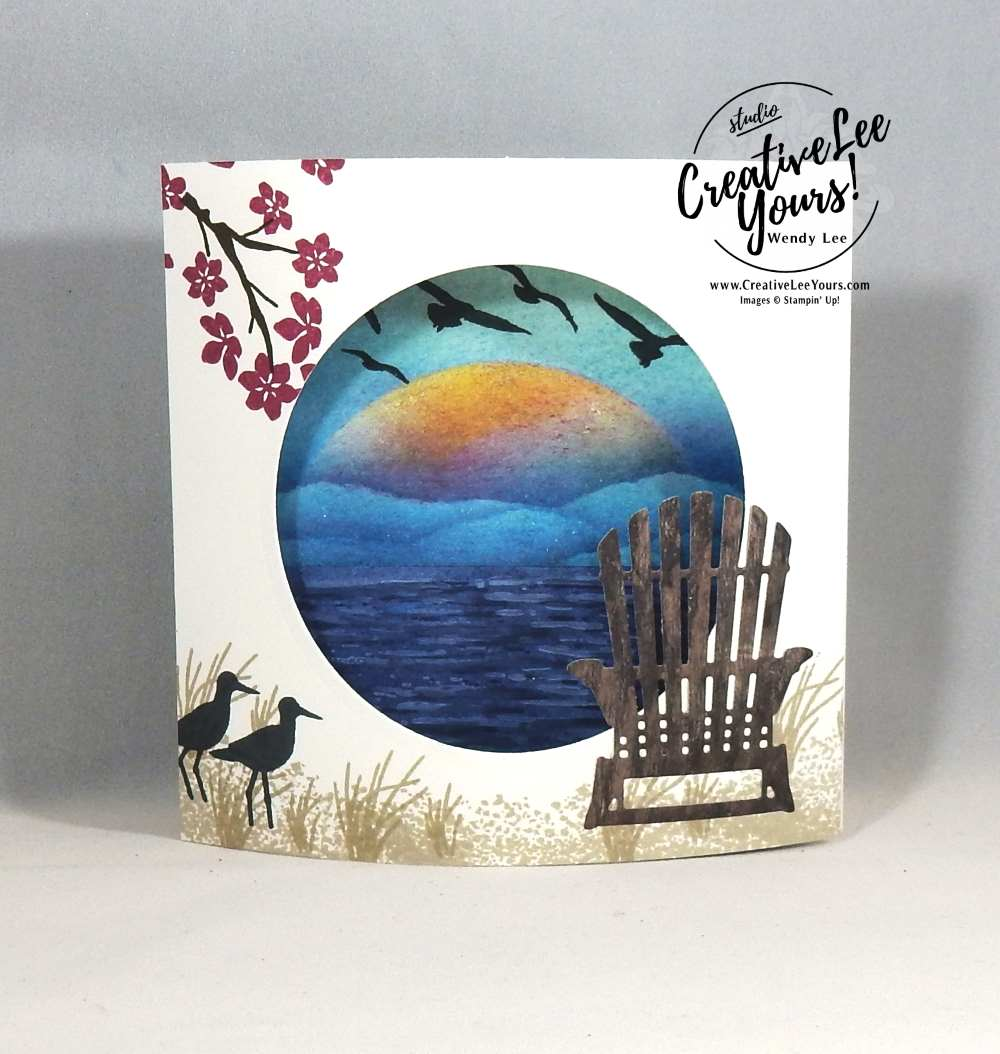 Beach Chair Dome by Wendy Lee, stampin up, rubber stamps, stamping, handmade card, colorful seasosns stamp set, seasonal layers thinlits, high tide stamp set