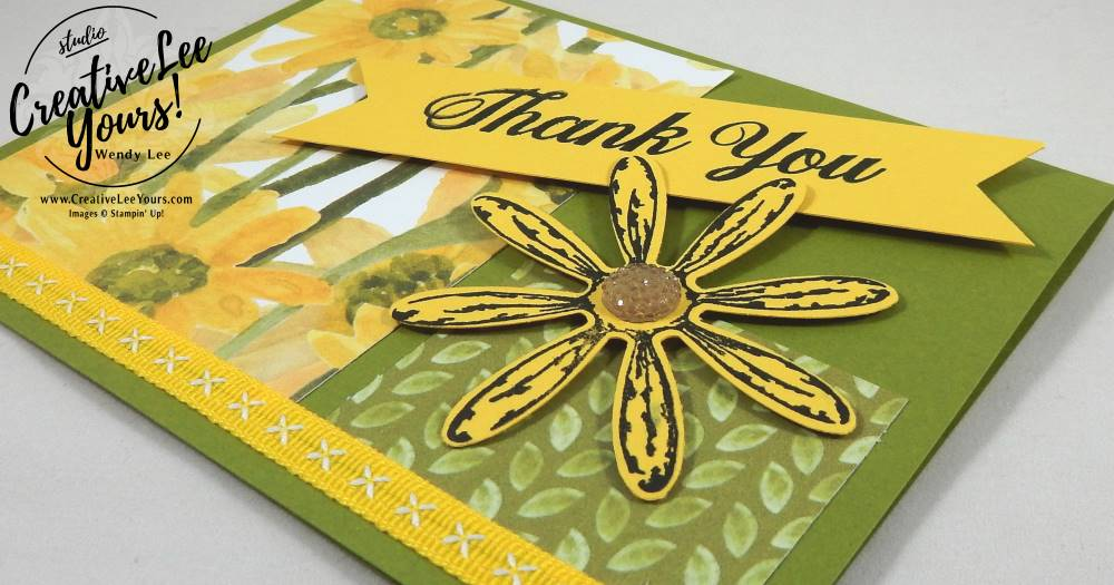 Thank You Daisy by Jennifer Moretz, Daisy Delight stamp set,daisy punch, diemond team swap, Stampin Up, handmade card, stamping,rubber stamps