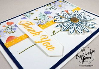 Daisy Thank You by Betsy Batten, Daisy Delight stamp set,daisy punch, diemond team swap, Stampin Up, handmade card, stamping,rubber stamps