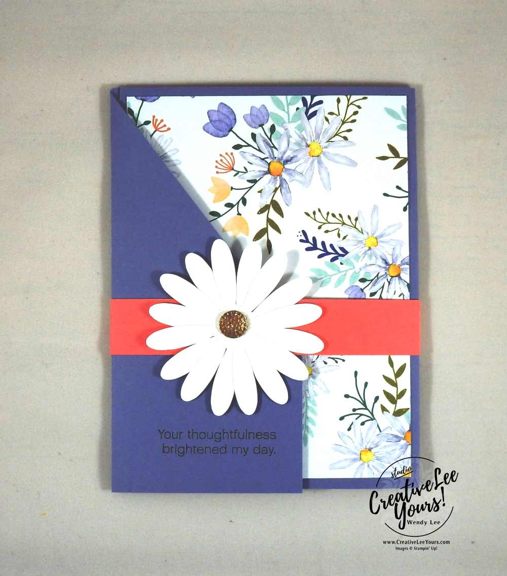 Thoughtful Daisy by Stephanie Daniel, Daisy Delight stamp set,daisy punch, diemond team swap, Stampin Up, handmade card, stamping,rubber stamps