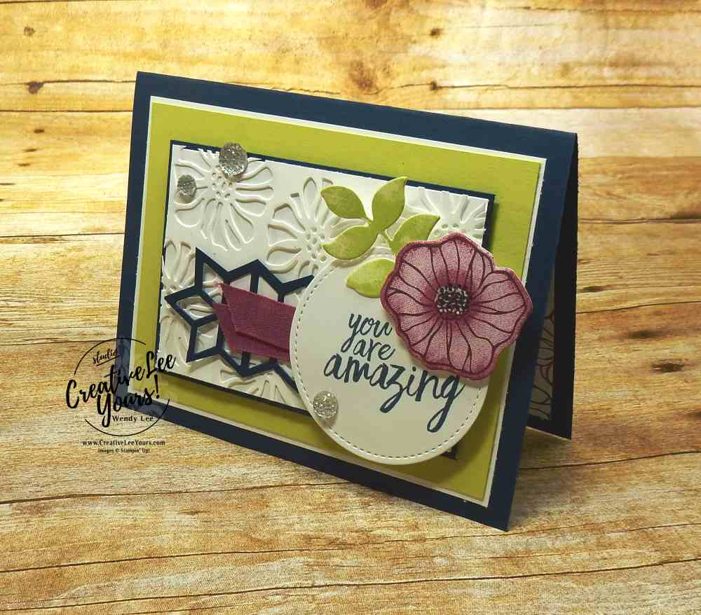 Amazing Thanks by Wendy Lee, Stampin Up, stamping, thank you card, rubber stamps, #creativeleeyours,creativelyyours, all things thanks stamp set, oh so eclectic stamp set, kylie bertucci international highlights, handmade card