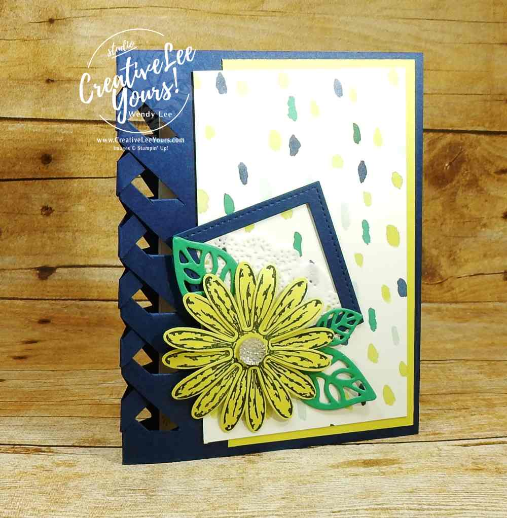 Lattice Daisy,wendy lee,Stampin Up, Daisy Delight stamp set, diemond team swap, rubber stamps, stamping, handmade card, thank you, diemond team swap by Sheila Tatum
