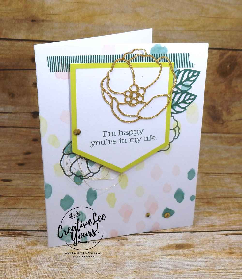 soft sayings card kit class with Wendy Lee, Stampin Up, #creativeleeyours, rubber stamps, hand made cards
