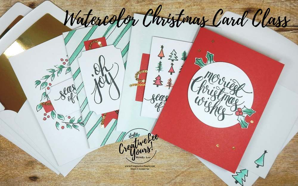 Introducing the Watercolor Christmas Card Class - Creativelee Yours