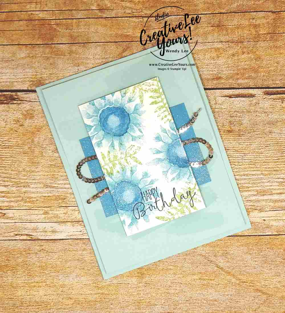 Painted Winter Flowers by wendy lee, stampin up, painted harvest stamp set, #creativeleeyours, creatively yours, handmade birthday card, rubberstamps, stamping