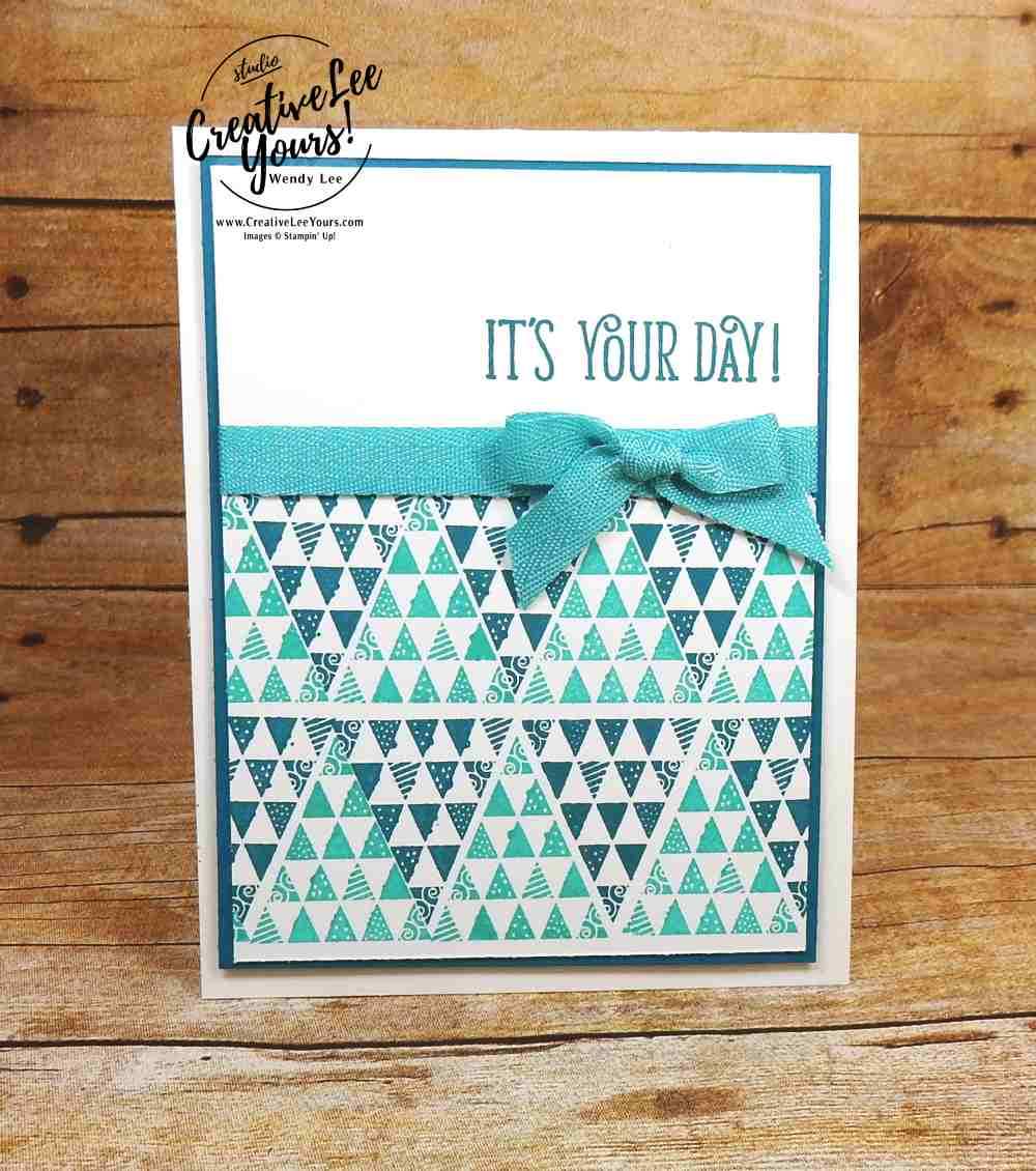 Birthday Quilt by Wendy Lee, Stampin Up, stamping, rubber stamps, handmade card, #creativeleeyours, creatively yours, christmas quilt stamp set, happy birthday gorgeous stamp set, quick cards