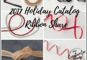 2017 holiday catalog ribbon share with Wendy Lee, stampin up, papercrafting, #creativeleeyours,creativelyyours