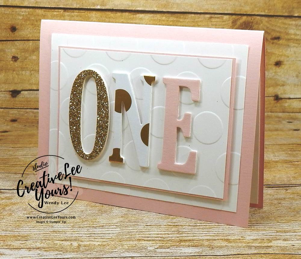 1st Birthday By Wendy Lee Stampin Up Baby Girl Card Stacked Letters