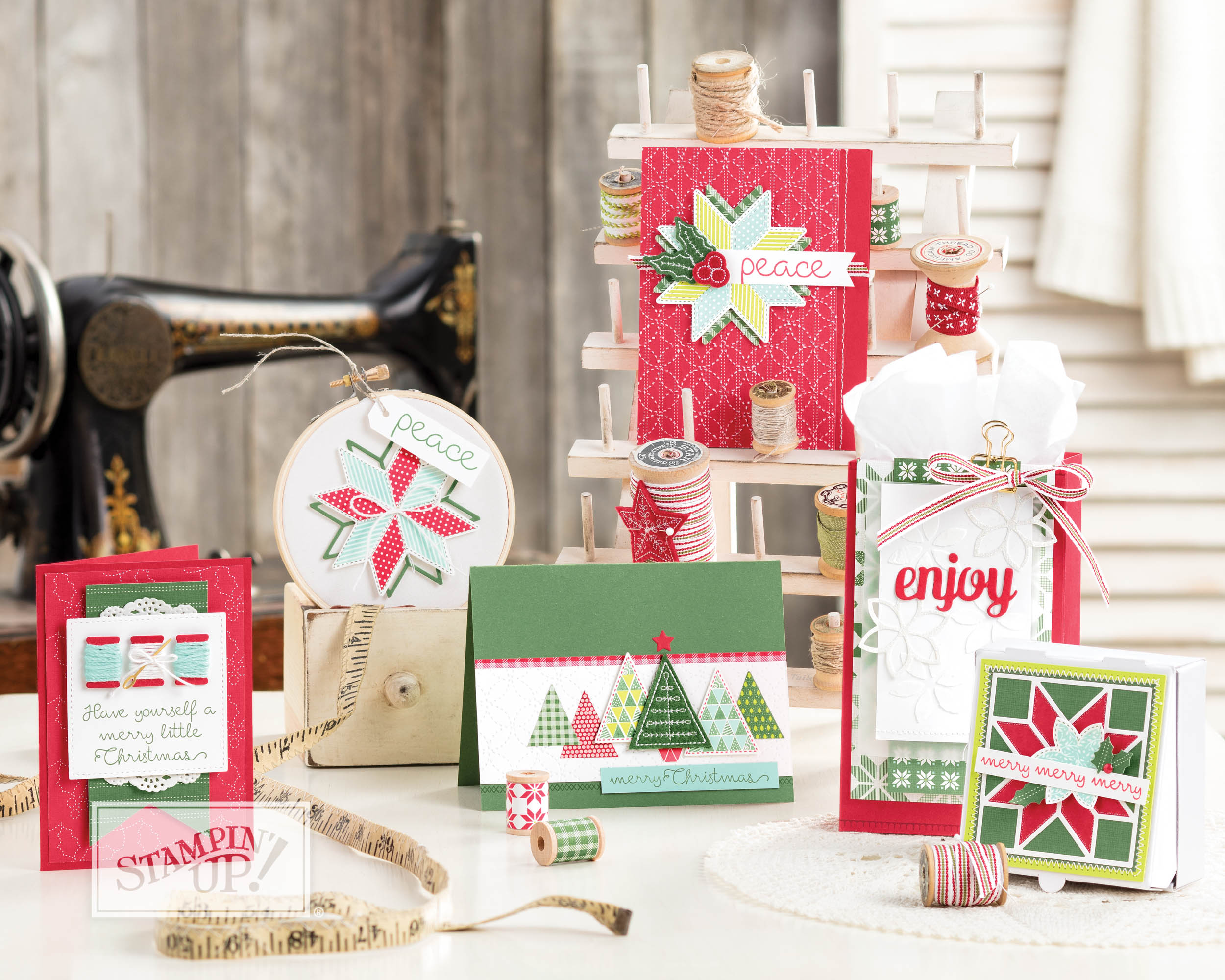 Christmas Quilt with Wendy Lee, Stampin Up product video, stamps, stamping, #creativeleeyours, creativelyyours, handmade