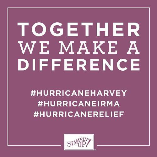 Stampin' Up!, wendy lee, #hurricaneharvey, #hurricaneirma, #hurricanerelief