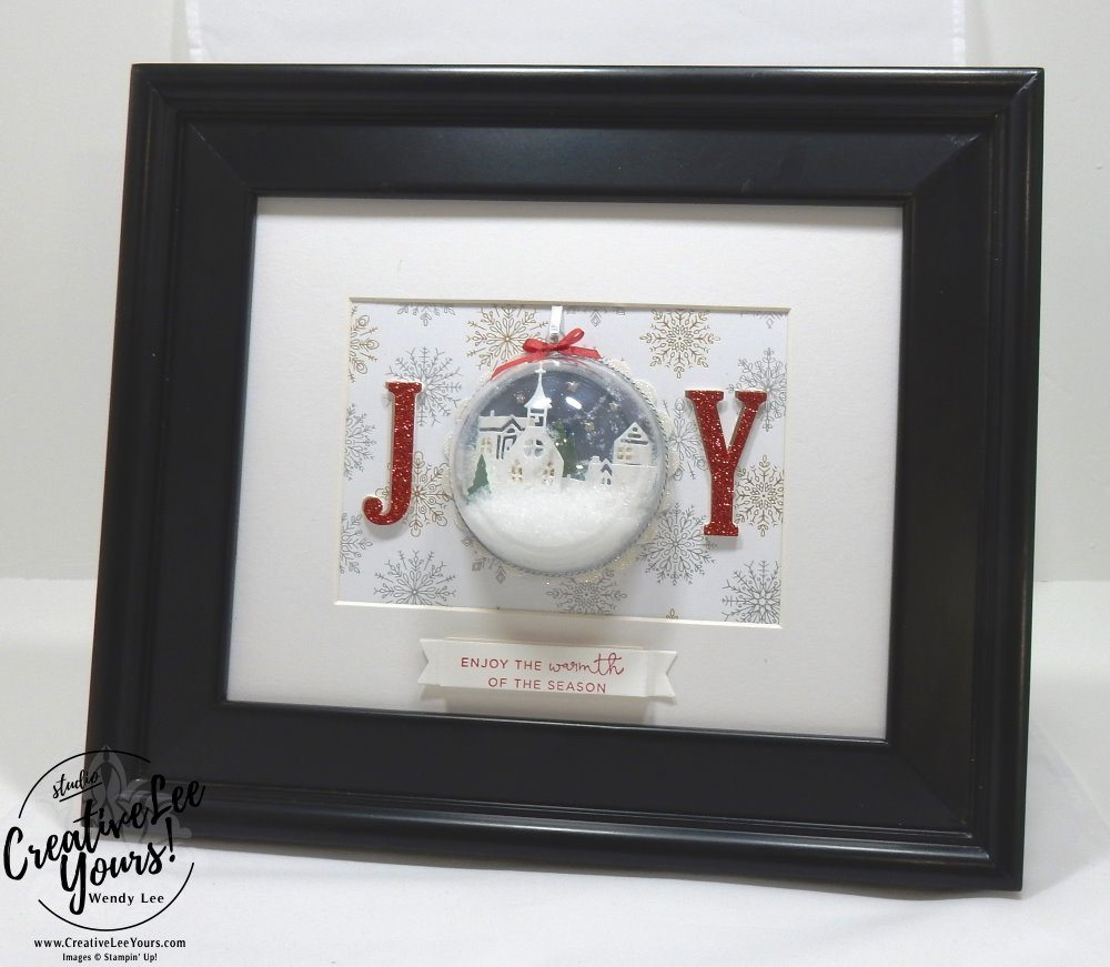 Hometown Home Decor Class by Wendy Lee,stampin Up, hand made, stamping, big shot, hearts come home stamp set, hometown greeting edgelits, christmas, joy frame