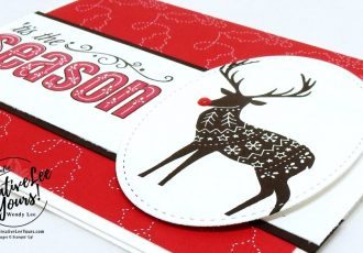 Tis the season by wendy lee, Stampin Up, merry patterns host stamp set, christmas, handmade, stamping, quick & easy holiday cards, #creativeleeyours, creatively yours