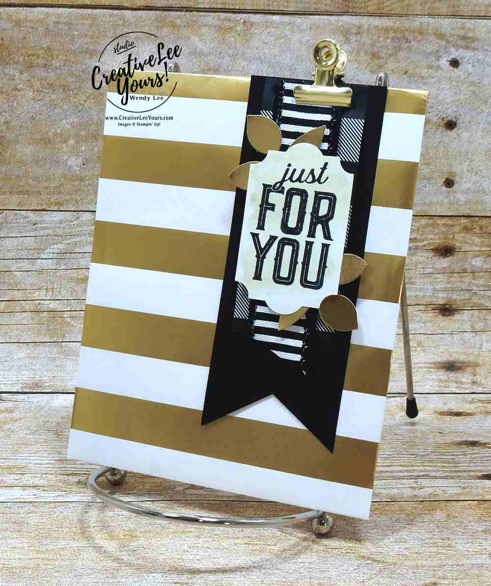 st for you with Wendy Lee, #WCMD2017, Stampin Up, Mery little labels stamp set, handmade, holiday gifts, gift card holder, stamping,#creativeleeyours, creatively yours