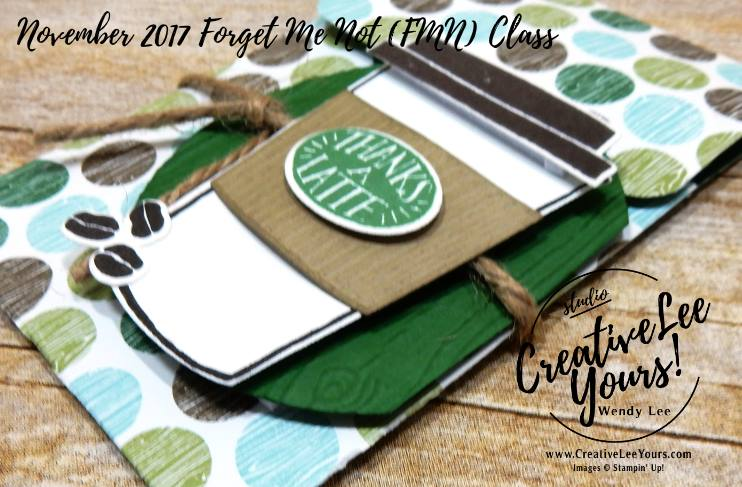 Thanks A Latte Slider Gift Card Holder by Wendy Lee, stamping, handmade, coffee cafe stamp set,Coffee Cups Framelits,masculine,november 2017 fmn class,#creativeleeyours, creatively yours,stampin up
