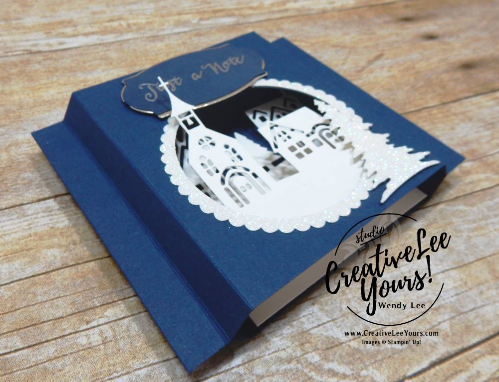 Hometown Shadowbox by Wendy Lee,stampin up,#creativeleeyours,creatively yours,stamping,handmade card,thank you,hospitality,december 2017 fmn class,at home with you stamp set,hometown greetings edgelits