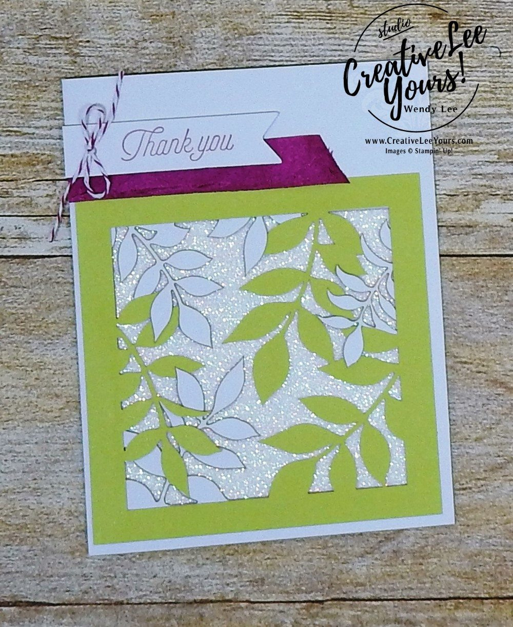 Thank You Leaves by Wendy Lee,December 2017 Paper Pumpkin Flora and Flutter Kit,stampin up, handmade cards, rubber stamps, stamping, kit, subscription, floral cards