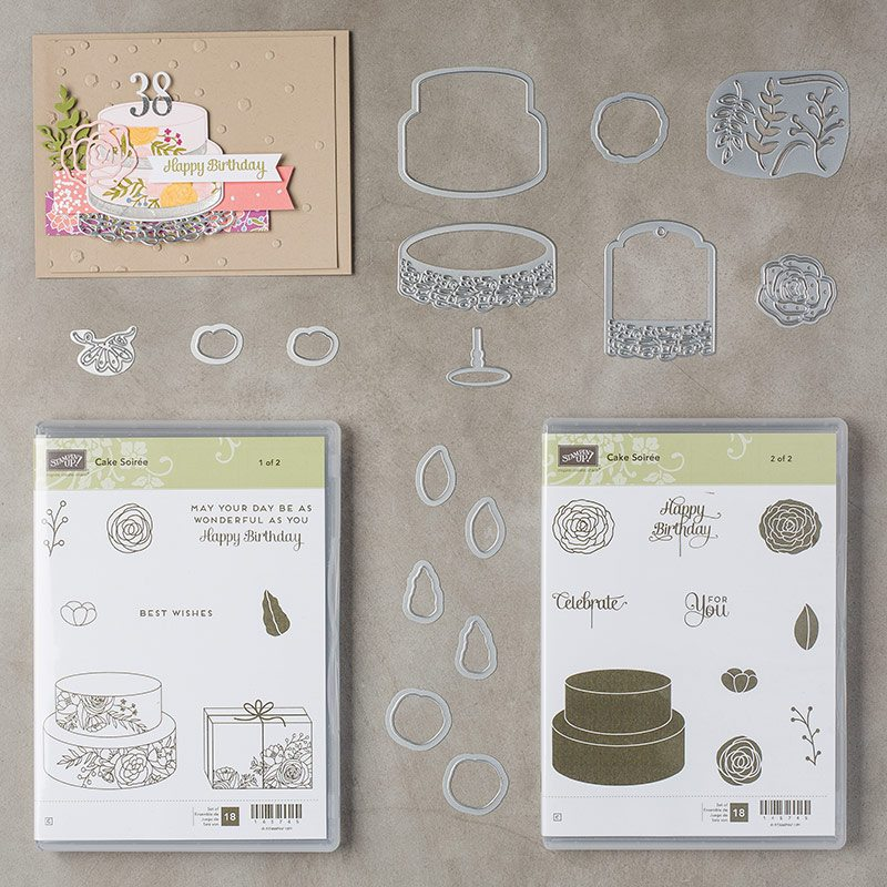 cake soiree bundle with Wendy Lee, stampin' up,stamping,handmade, birthday, wedding, anniversary,celebration, video,cake soiree stamp set, sweet cake framelits,#creativeleeyours, creatively yours