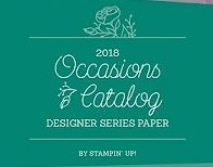2018 Occasions catalog designer paper share with Wendy Lee, stampin up, papercrafting, #creativeleeyours,creatively yours