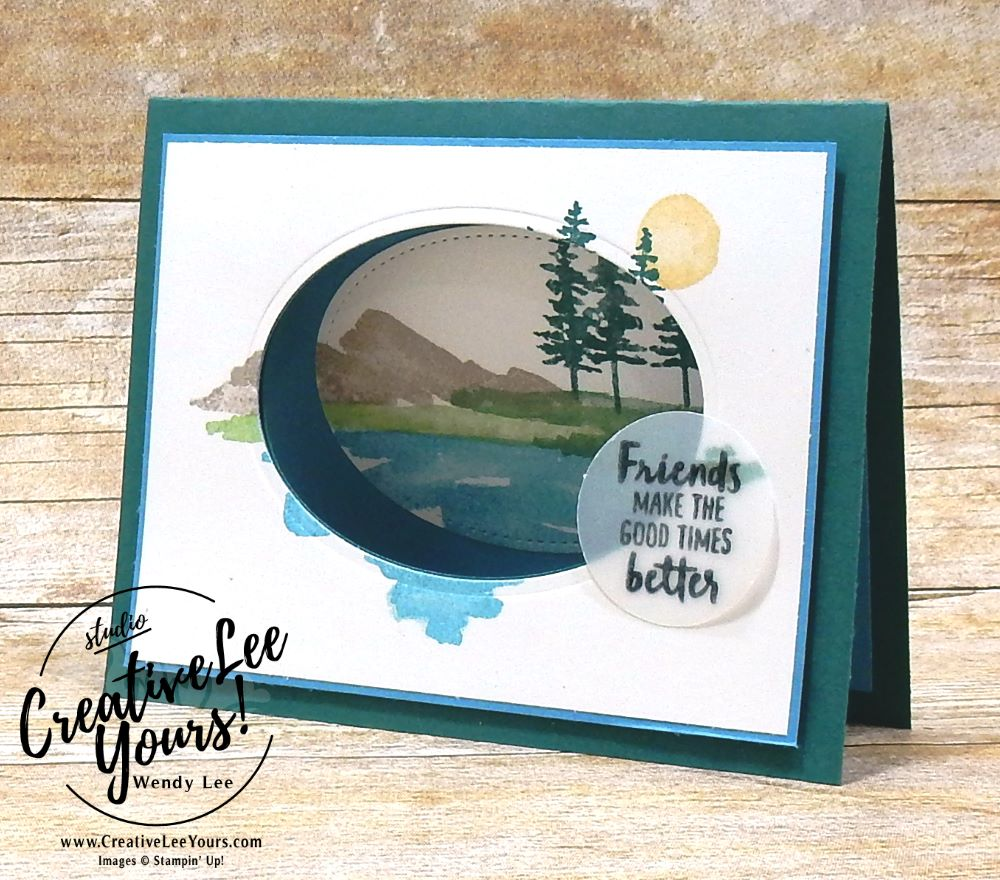 waterfront by Wendy Lee, FREE Printable Tutorial,sympathy, friend,Stampin Up, stamping, SU,SU cards, hand made, #creativeleeyours, creatively yours, creative-lee yours,waterfront stamp set, cut out window technique,watercolor