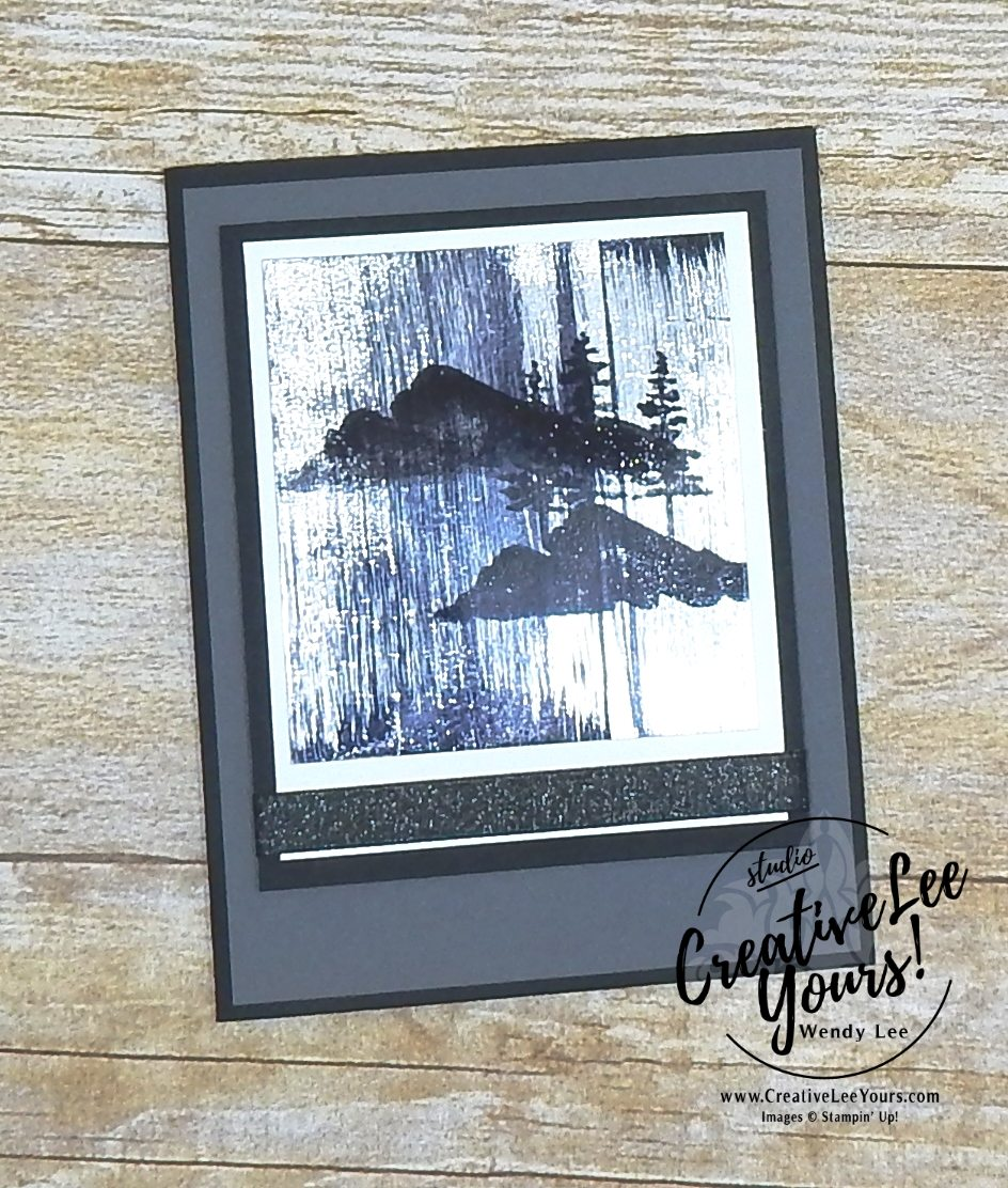 Black Ice Mountain with Wendy Lee,stampin up,stamping, hand made, #creativeleeyours, creatively yours, Diemonds team meeting,SAB,sale-a-bration,waterfront stamp set