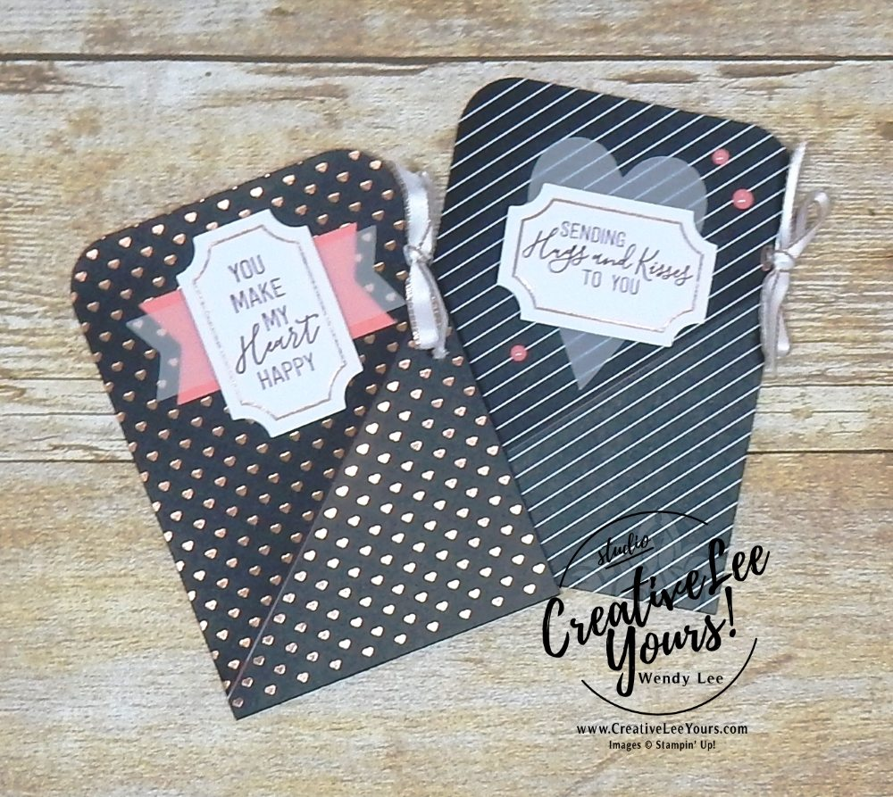 January 2018 Paper Pumpkin Heartfelt Love Notes Kit with Wendy Lee, #creativeleeyours, creatively yours, creative-lee yours, stampin up, stamping, handmade, treat pouch, valentine,love note, fast and easy cards