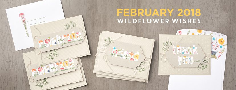 February 2018 wildflower wishes Paper Pumpkin Kit by wendy lee, stampin up, handmade cards, rubber stamps, stamping, kit, subscription, floral,spring cards, thank you, congrats, friend, #creativeleeyours,creatively yours,creative-lee yours,SU, SU cards,video