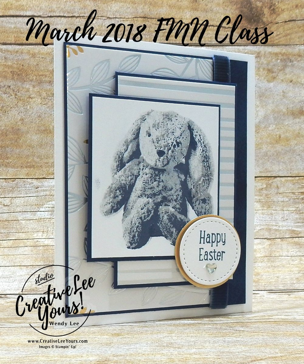 Easter Bunny by Wendy lee, Stampin Up, stamping, hand made, friend, easter, grandchild,#creativeleeyours, creatively yours, creative-lee yours,March 2018 FMN card class, forget me not, SAB, Sale-a-bration,sweet little something stamp set, touches of textures stamp set,FREE stamps,SU,SU cards,rubber stamps
