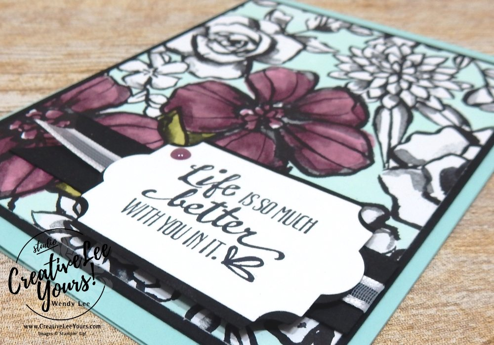 Life is Better with you, Wendy Lee, creatively yours, creative-lee yours, Stampin Up, stamping, handmade, SU, #creativeleeyours, petal palette stamp set, diemonds team meeting,coloring with blends