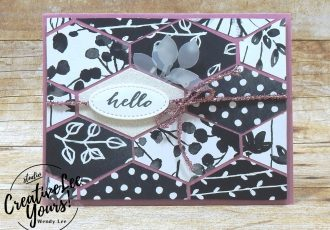 Hello by wendy lee, stampin up, handmade, stamping, #creativeleeyours, creatively yours, creative-lee yours, #makeacardsendacard, stamping,SU, paper pumpkin,sliding door framelits, April 2018 FMN class, forget me not, Bonus card,Paper Pumpkin February 2018 Wildflower Wishes Kit
