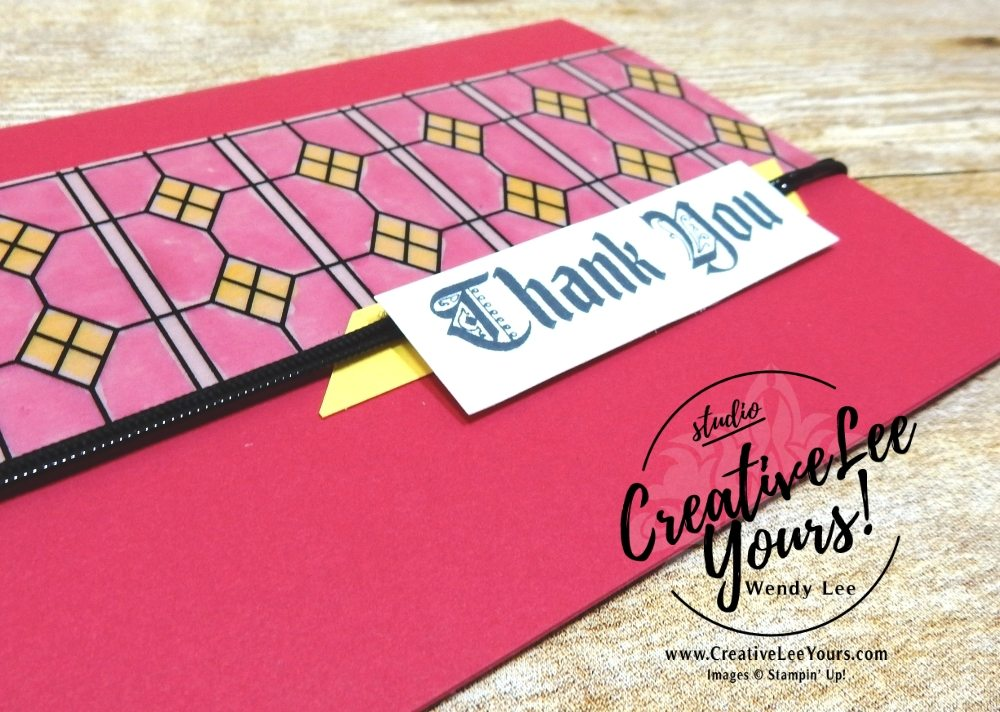 Stained Glass with wendy lee,  stampin up, stamping, SU, #creativeleeyours, creatively yours, creative-lee yours, handmade, #makeacardsendacard, SU, thank you, coloring, vellum, April 2018 On Stage