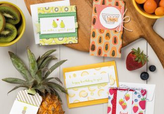 The Fruit Basket Stamp Set, Itty Bitty Fruit Punch Pack,wendy lee, stampin up, handmade, stamping,#creativeleeyours, creatively yours, creative-lee yours, all occasions cards, punch art, video,SU, SU cards