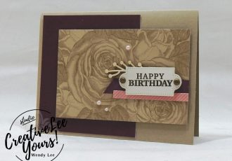 March 2018 May Good Things Grow Paper Pumpkin Kit by wendy lee, stampin up, handmade cards, rubber stamps, stamping, kit, subscription, floral, spring cards, vintage, beautiful, birthday, thank you, congrats, friend, #creativeleeyours, creatively yours, creative-lee yours, SU, SU cards