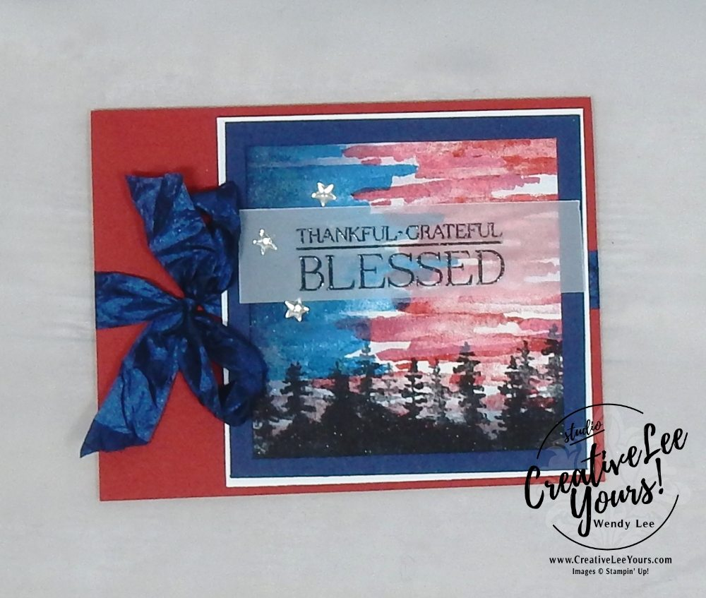 Blessed by wendy lee, stampin up, handmade, stamping, #creativeleeyours, creatively yours, creative-lee yours, Kylie Bertucci, international highlights, blog hop, waterfront stamp set, paisley & posies stamp set, encourage, thanks, support, #makeacardsendacard, SU