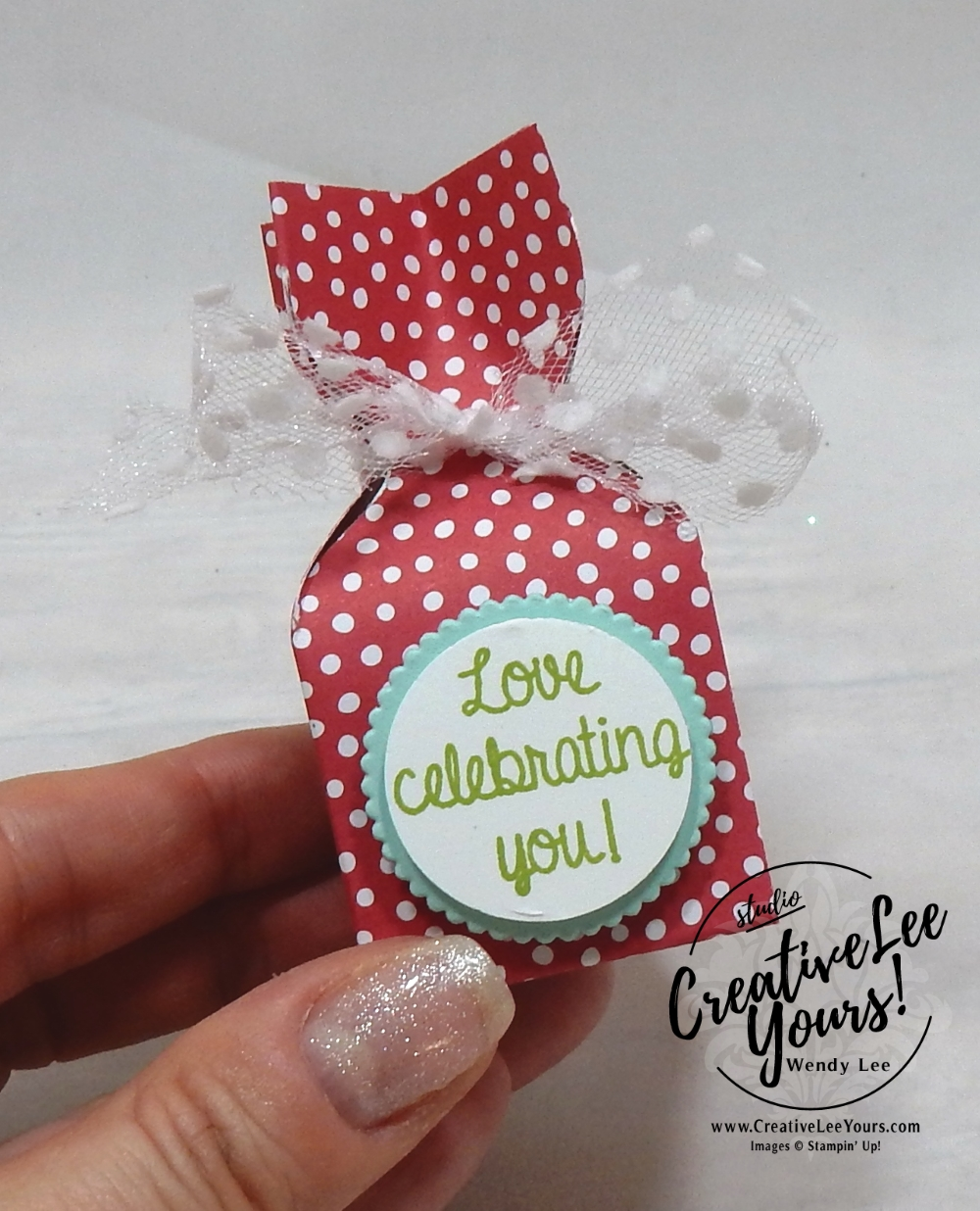 Stampin up 2018 2019 new catalog party with Wendy Lee, #creativeleeyours, creatively yours, creative-lee yours, open house, 3D candy treat,envelope punch board, handmade, stamping, SU