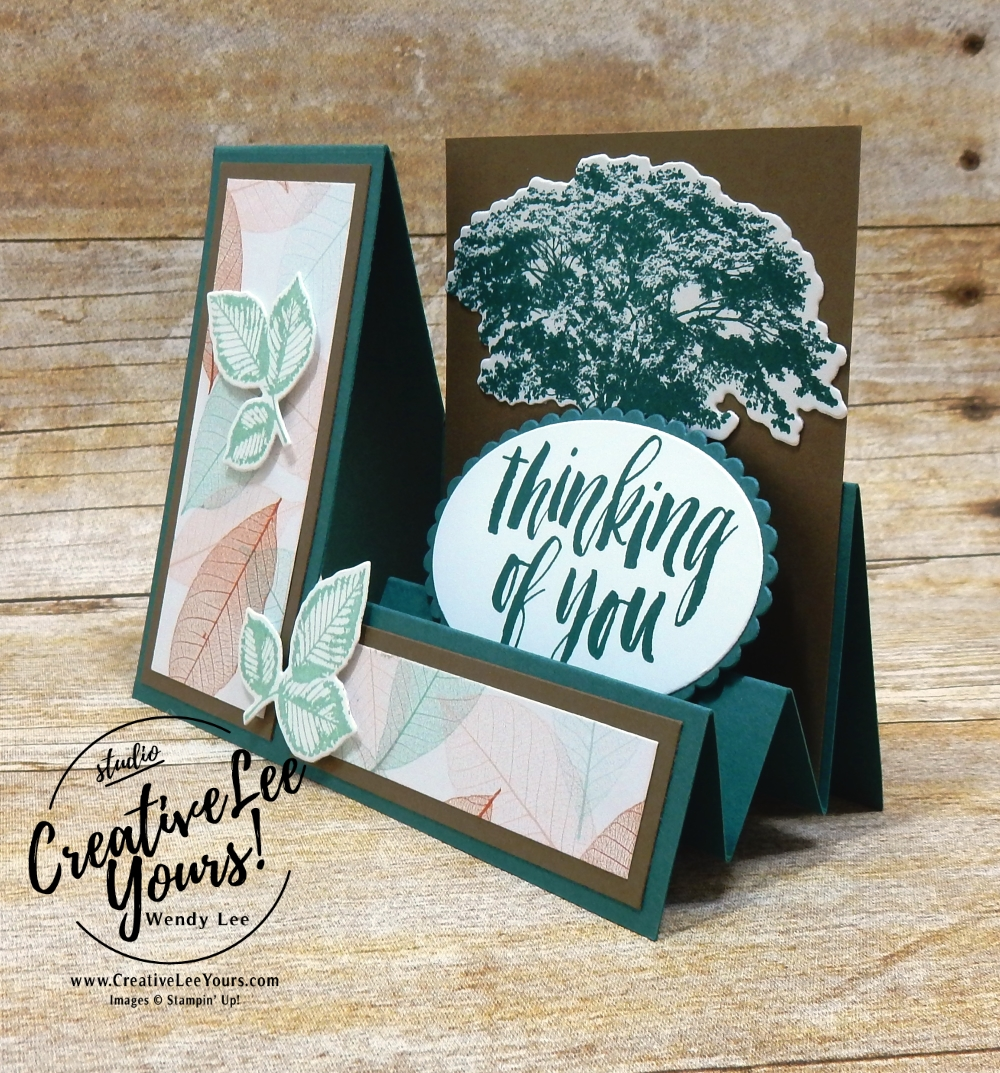 Thinking of you step card by belinda rodgers, cardmaking, handmade card, rubber stamps, stamping, stampin up, wendy Lee, #creativeleeyours, creatively yours, creative-lee yours, SU, SU cards, rooted in nature stamp set, birthday, diemonds team swap