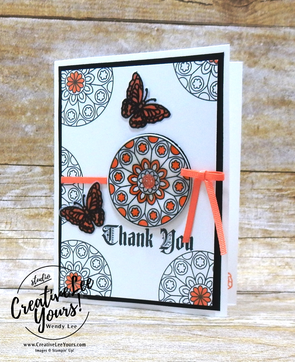 Stained Glass Thank You by jennifer hamlin cardmaking, handmade card, rubber stamps, stamping, stampin up, wendy Lee, #creativeleeyours, creatively yours, creative-lee yours, SU, SU cards, painted glass stamp set, birthday, thank you, diemonds team swap
