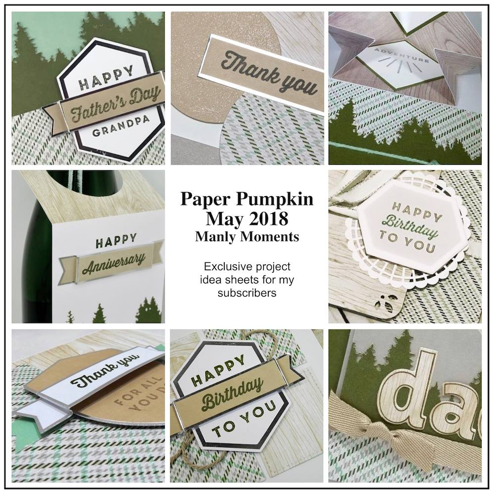 May 2018 Manly Moments Paper Pumpkin Kit by wendy lee, stampin up, handmade cards, rubber stamps, stamping, kit, subscription, spring cards, birthday, thank you, congrats, friend, #creativeleeyours, creatively yours, creative-lee yours, SU, SU cards, alternate, alternate, gift card holder, landscape,masculine