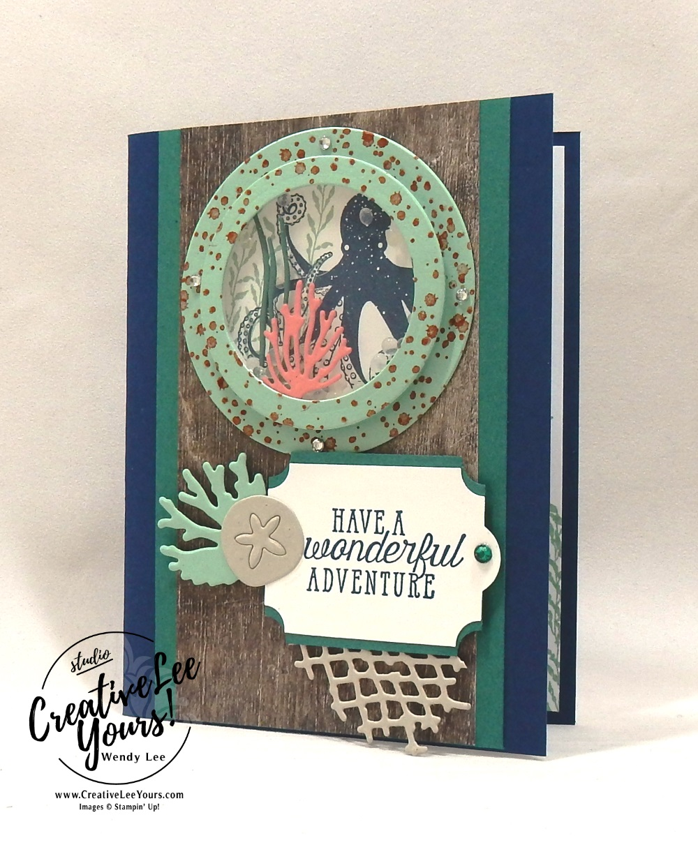 Wonderful Adventure Shaker by Jennifer Hamlin, Stampin Up, stamping, handmade card, friend, thank you, birthday, #creativeleeyours, creatively yours, creative-lee yours, diemonds team swap, sea of textures stamp set, SU, SU cards, rubber stamps