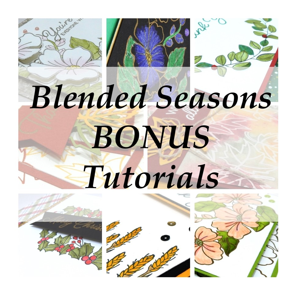 color your season promotion, Stampin Up, promotion, #creativeleeyours, wendy lee, creatively yours, creative-lee yours, stamping, paper crafting, handmade, business opportunity, limited time, all occasions, flowers, leaves, blended season stamp set, stitched seasons framelits, free tutorial